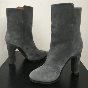 "NEW Leifsdottir Gray Suede ""Pekka Mid-Boots"" (38)"